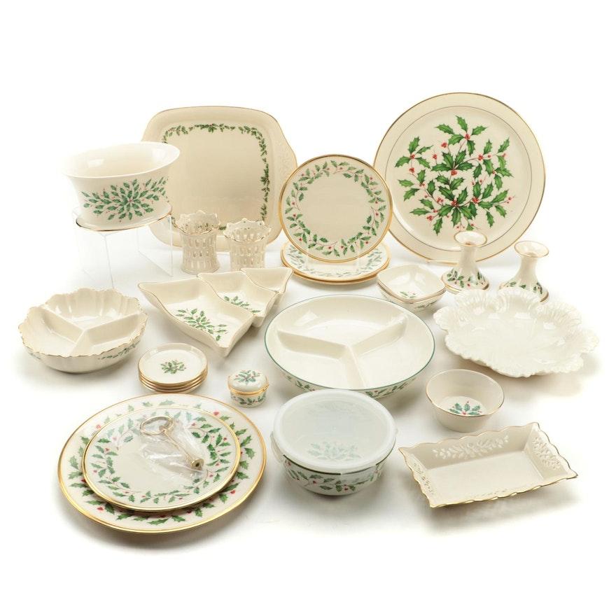 "Lenox ""Holiday"" Porcelain Dinnerware"