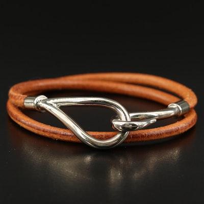 Hermès Double Tour Jumbo Hook Leather Bracelet