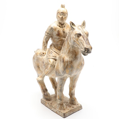 Ceramic Equestrian Sculpture