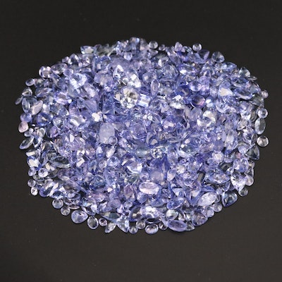 Loose 102.81 CTW Mixed Faceted Tanzanite