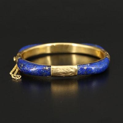 Lapis Lazuli Hinged Bangle