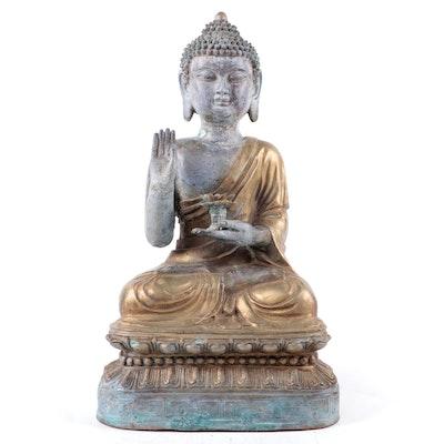 Chinese Bronze Buddha in Abhaya Mudra