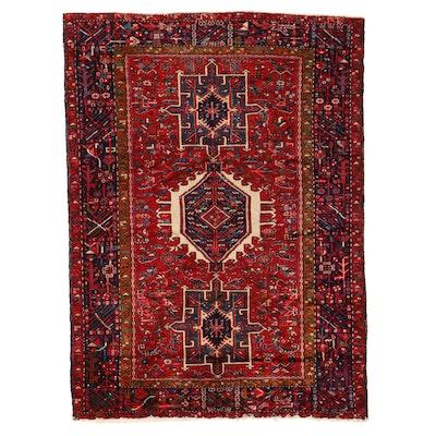 4'7 x 6'3 Hand-Knotted Persian Karaja Area Rug