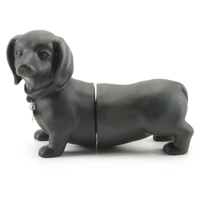 Contemporary Dachshund Bookends