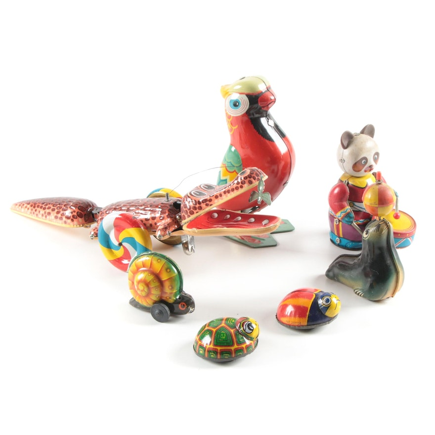 Noli, Lehmann, and Others Tin Lithograph Wind-Up Toys, Mid to Late 20th C.