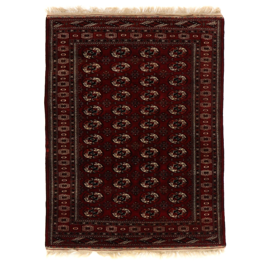 5'5 x 7'8 Hand-Knotted Afghan Turkmen Area Rug