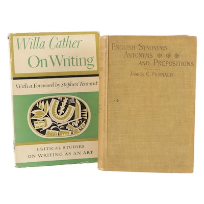 """First Edition """"On Writing"""" by Willa Cather and More, Early to Mid-20th Century"""