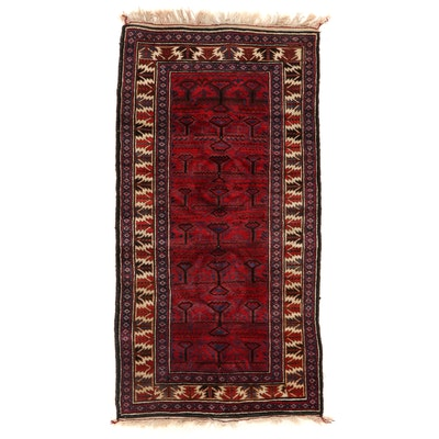 3'4 x 6'7 Hand-Knotted Afghan Baluch Area Rug