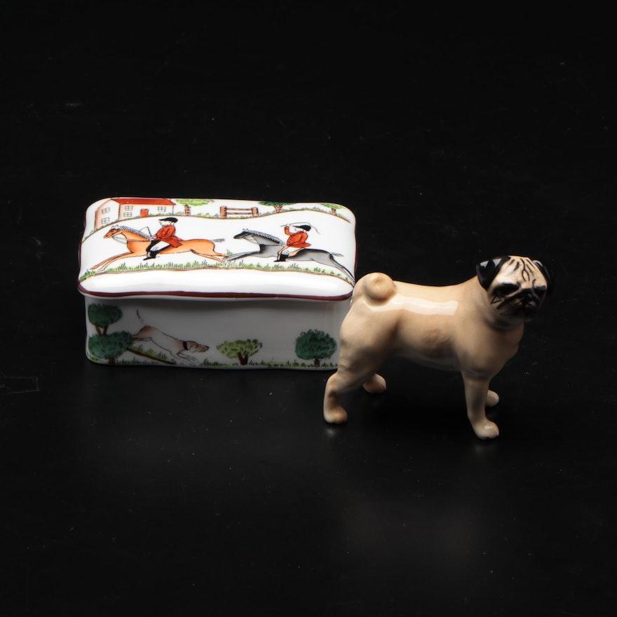 Beswick Fine Bone China Dog Figurine and Box