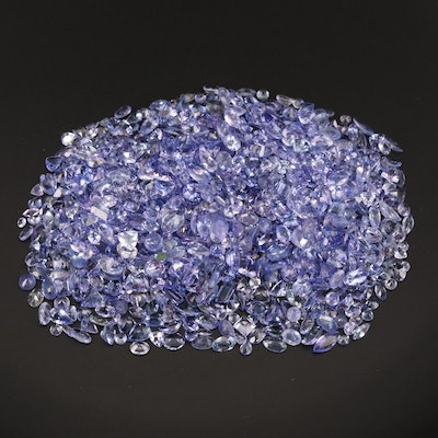 Loose 154.26 CTW Mixed Faceted Tanzanite