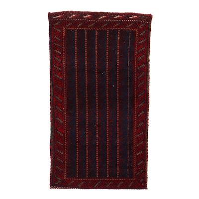 1'11 x 3'6 Handwoven Persian Kurdish Storage Bag, 1960s