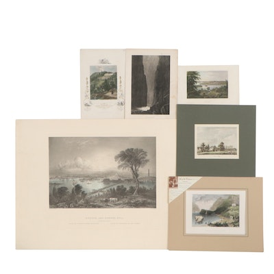Landscape Etchings and Engravings Including After William Bartlett