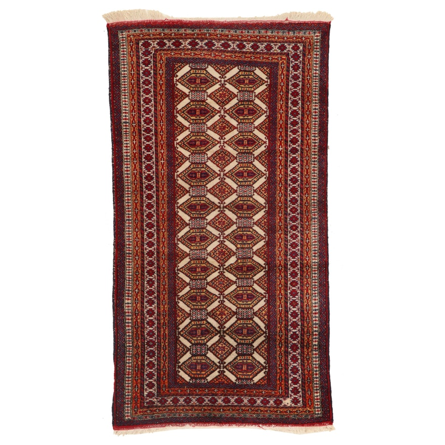 2'7 x 4'10 Hand-Knotted Afghan Accent Rug