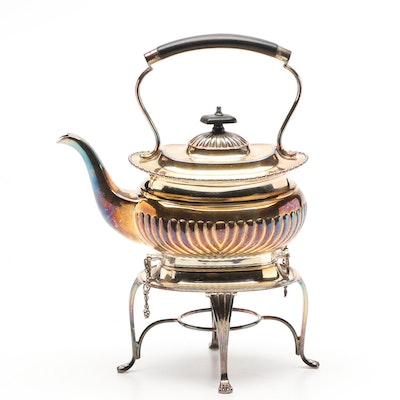 William Adams of Sheffield Silver Plate Teapot with Stand