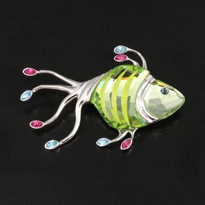 Swarovski Fish Brooch