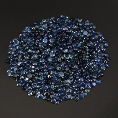 Loose 97.95 CTW Round Faceted Sapphires