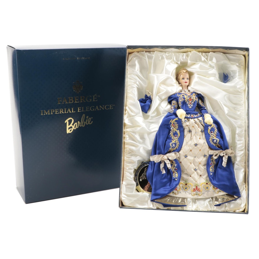 "Mattel ""Fabergé Imperial Elegance Barbie"" Porcelain Doll"