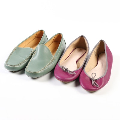 Land's End Leather Driving Loafers and Bianca Ballet Flats