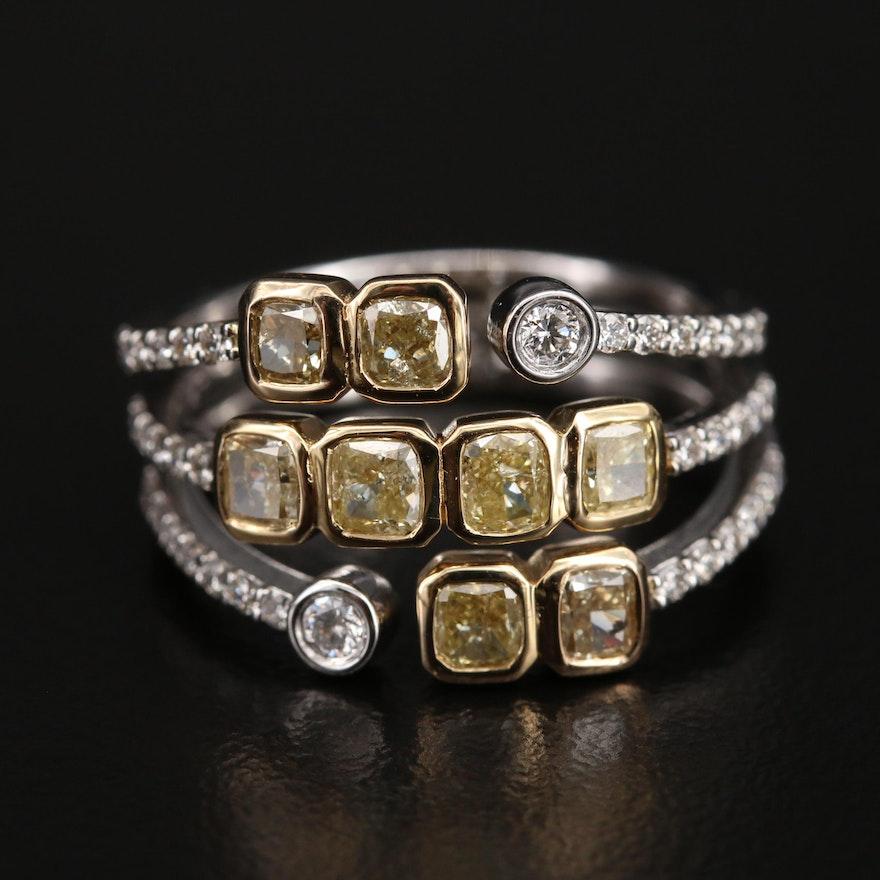 18K 1.59 CTW Diamond Multi-Row Ring