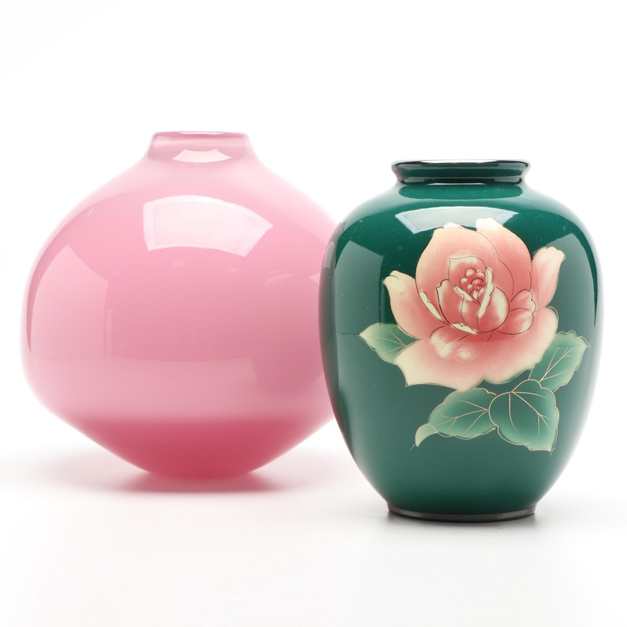 Blackstone Art Studio Glass Vase and Other Floral Vase