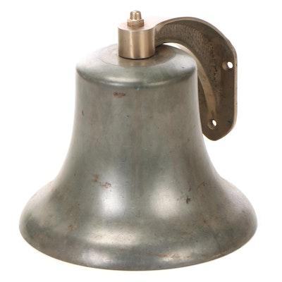 Cast Metal Bell with Brass Wall Bracket