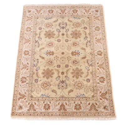 """5'1 x 7'5 Hand-Knotted Marcella Fine Rugs Indian """"Jaipur"""" Area Rug"""