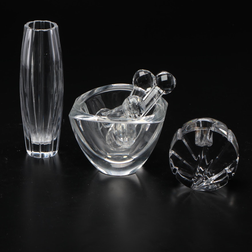 Marquis by Waterford Crystal Vase with Other Table Accessories