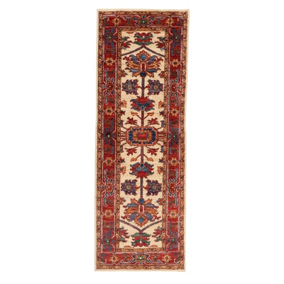 2'1 x 6' Hand-Knotted Afghan Persian Tabriz Long Rug, 2010s