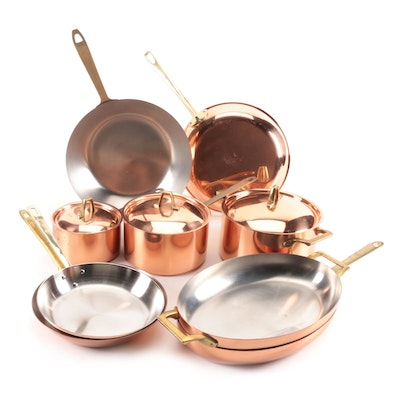 Paul Revere Signature Collection Copper and Stainless Cookware, Late 20th Centur