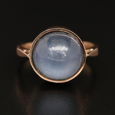 14K 13.56 CT Star Sapphire Ring