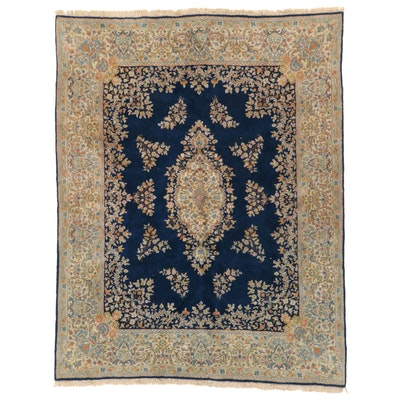 7'10 x 10'4 Hand-Knotted Persian Kerman Area Rug