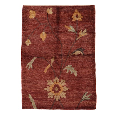 5'7 x 7'10 Hand-Knotted Indo-Turkish Oushak Rug, 2010s