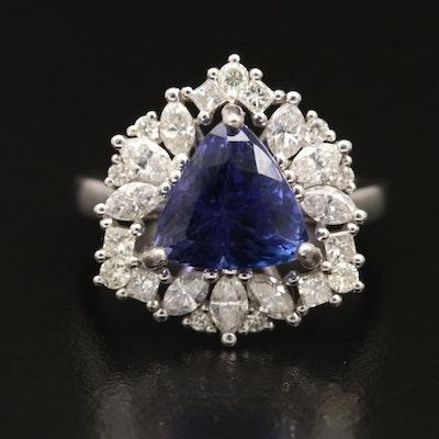 14K Tanzanite and 1.15 CTW Diamond Ring