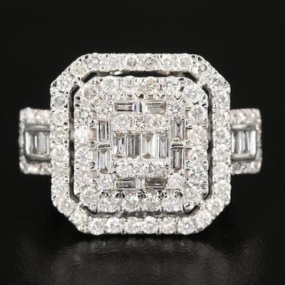 14K 3.00 CTW Diamond Stepped Ring