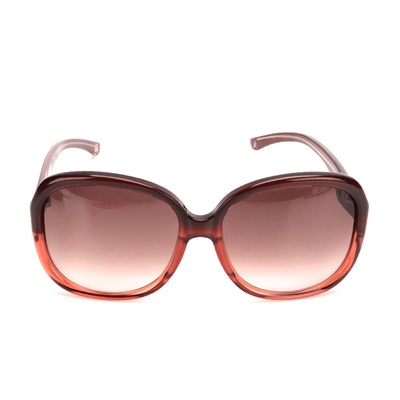 Celine SC 1712G Square Sunglasses in Pink and Burgundy Acetate with Case