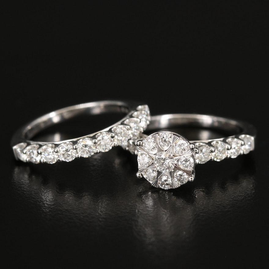 2.67 CTW Diamond Ring Set in 14K
