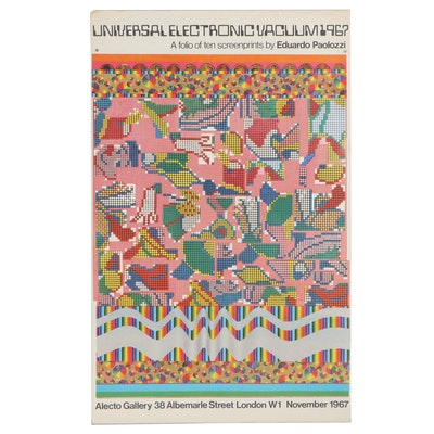 Alecto Gallery Eduardo Paolozzi Exhibition Poster, 1967