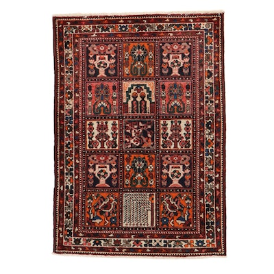 4'7 x 6'7 Hand-Knotted Persian Bakhtiari Rug, 1960s