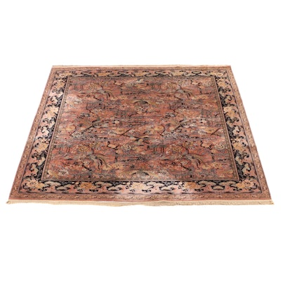 11'2 x 12'6 Machine Made M. J. Whittall Anglo-Persian Wilton Room Sized Rug