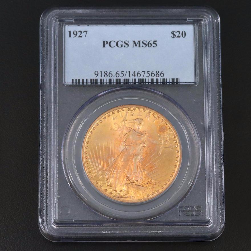 PCGS Graded MS65 1927 Saint-Gaudens $20 Gold Double Eagle