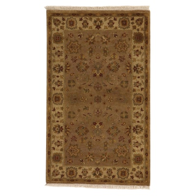 3' x 5'4 Hand-Knotted Indo-Turkish Oushak Rug, 2010s