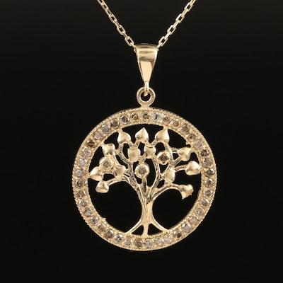 14K Tree of Life Diamond Necklace