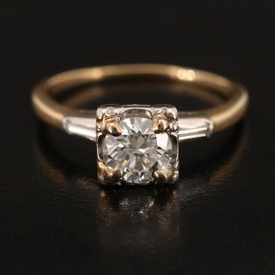 1950s Diamond Three Stone Ring