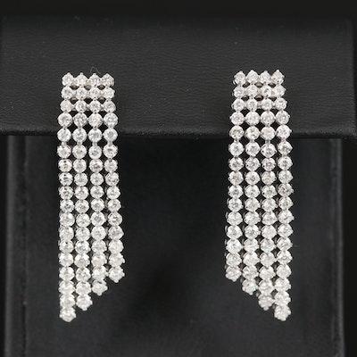 14K 4.83 CTW Diamond Waterfall Earrings