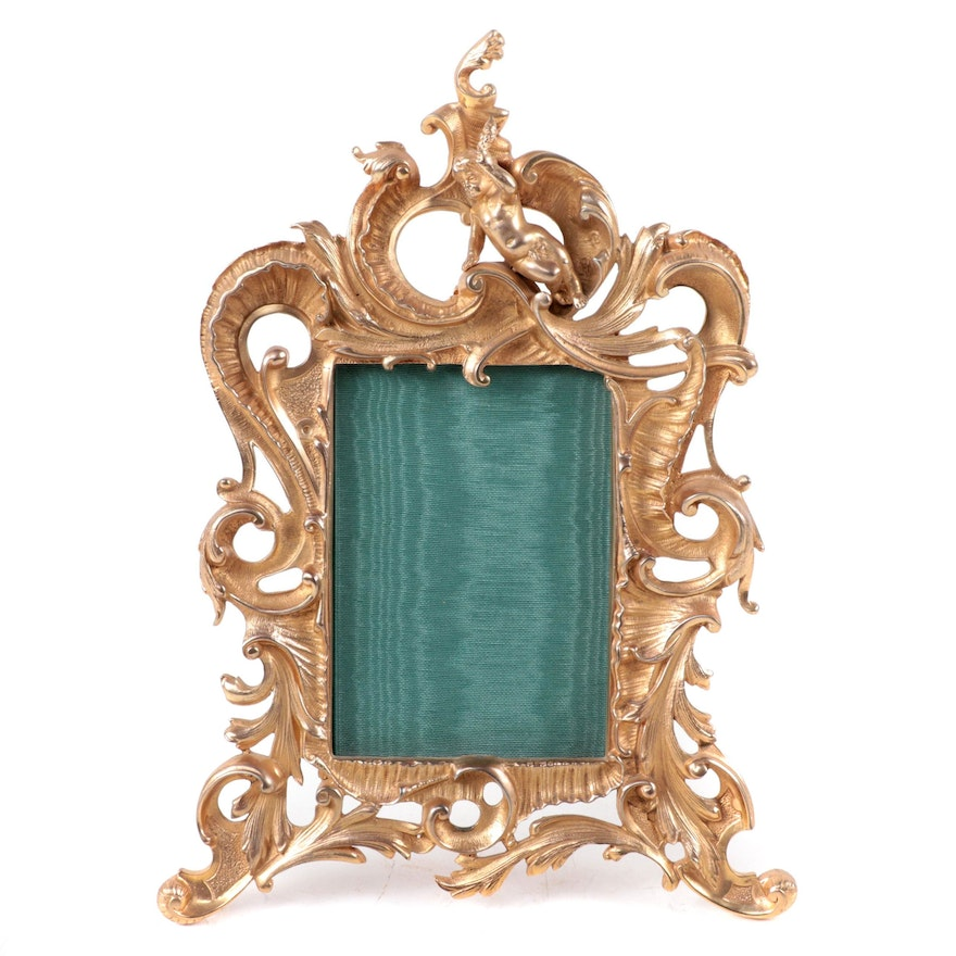L.D & R.P Rococo Style Brass Table Top Frame