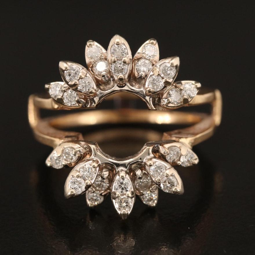 Vintage 14K Diamond Ring Guard