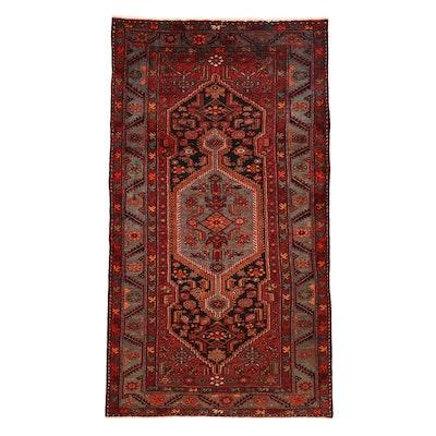 4'3 x 7'11 Hand-Knotted Persian Zanjan Rug, 1920s