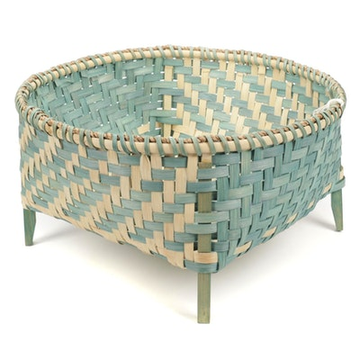 Handwoven and Dyed Navajo Inspired Wool Drying Basket