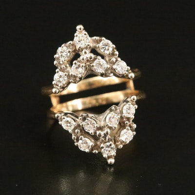 14K Diamond Guard Enhancer Ring