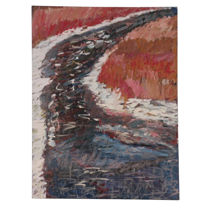 Jerald Mironov Landscape Oil Painting, Circa 2000